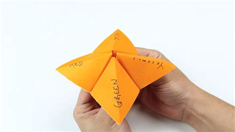 How To Make A Paper Fortune Teller Wikihow - how to make a paper fortune teller fortune teller fold 3