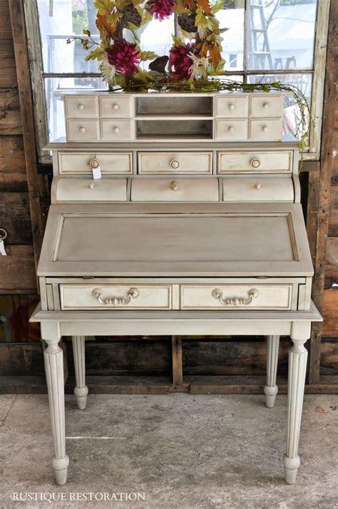 used secretary desk with rustique restoration french gray and cream secretary desk