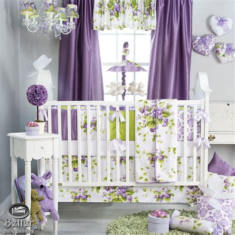 shabby chic cot bedding baby purple green white shabby chic crib cot nursery