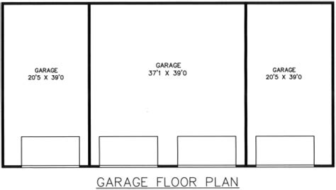4 Car Garage Size | hanna 4 car garage plans