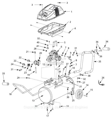 cbell hausfeld wl650103 parts diagram for air compressor parts