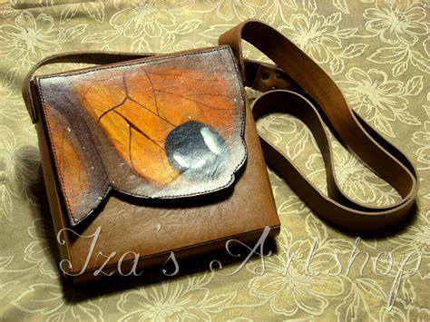 Pouch Buterfly butterfly leather pouch by izasartshop on deviantart