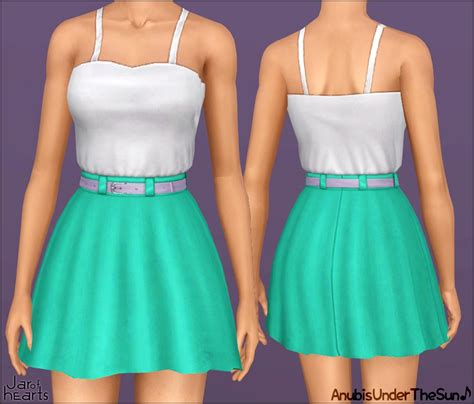 mod the sims wcif high waisted skirt with handpainted