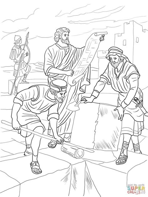 Nehemiah 8 Coloring Pages by Nehemiah Wall Coloring Page Sunday School Make Takes