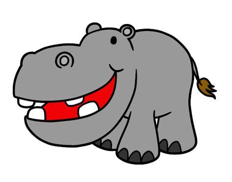 imagenes infantiles hipopotamo dibujo de hipopotamo pintado por juliana82 en dibujos net