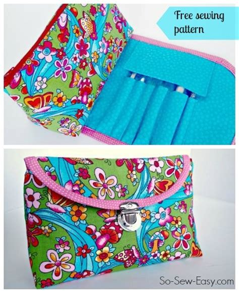brush easy pattern cosmetics bag with fold over brush roll video by so sew