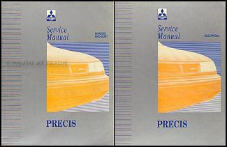 automotive service manuals 1993 mitsubishi precis auto manual 1993 mitsubishi precis repair shop manual set original