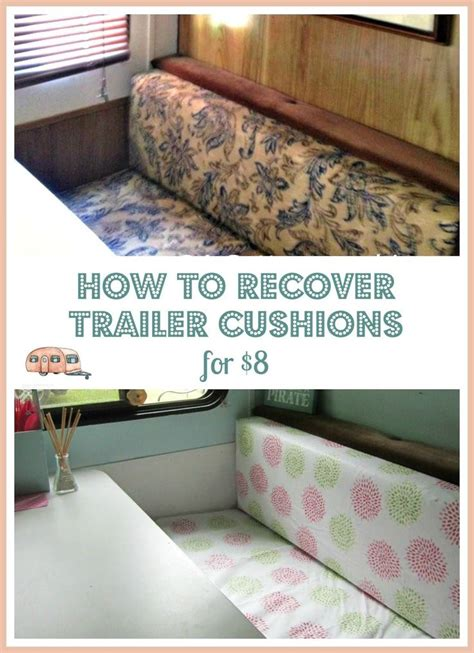 how to reupholster couch cushions without sewing gling update 8 trailer diy dinette cushion covers