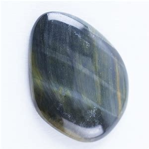 hawk s eye gemstone cabochon freeform 22mm x 30mm cool