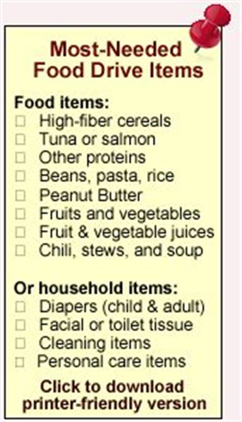Most Needed Food Pantry Items by Grocery List Most Needed Items For Greater Pittsburgh