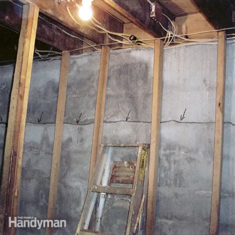 diy basement repair how to fix a cracked basement wall family handyman