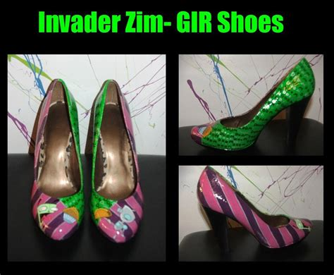 gir slippers invader zim gir shoes by righnach on deviantart