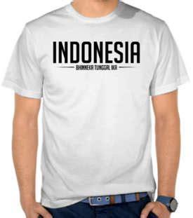 Kaos Wanita Tshirt Indonesia Bhineka Tunggal Ika Jual Kaos Distro Beli T Shirt Murah Satubaju