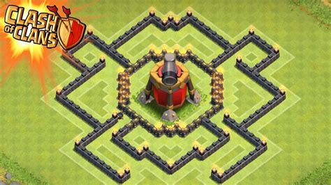 coc layout th7 with air sweeper clash of clans air sweeper town hall 7 trophy base th7