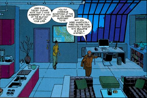 Matts Appartment by Daredevil Gets A Computer And Enters The 21st Century