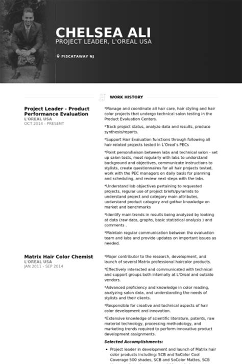 project lead resume format project leader resume sles visualcv resume sles