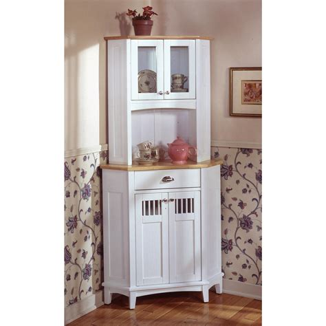 home styles nantucket corner buffet and hutch white