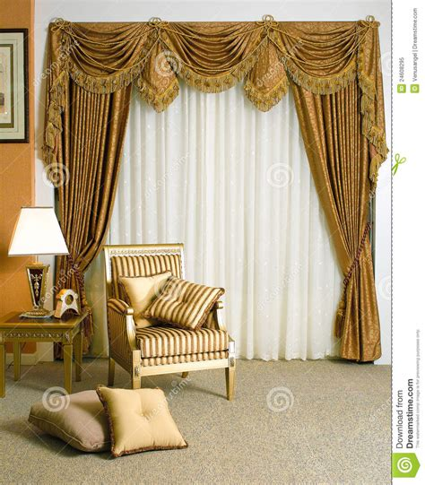 beautiful curtains beautiful curtain in living room stock image image 24608295