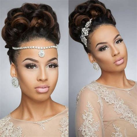 Bridesmaid Hairstyles For Black Hair by Best 25 Black Wedding Hairstyles Ideas On