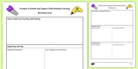 Workshop Area Adult Support Prompt Sheet Template Construction Foundation Template Builder