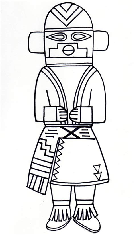 kachina doll coloring page kachina dolls creativity connection