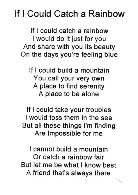 What To Do This Weekendi Could Do Thisor Thi by If I Could Catch A Rainbow Poem Search Say This