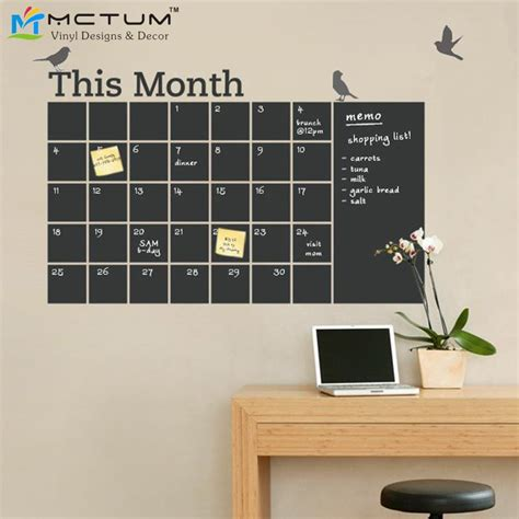 diy chalkboard wall calendar aliexpress buy new 2016 diy vinyl chalkboard wall