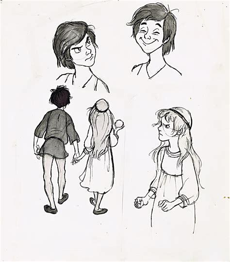 Tha 101 Black walt disney sketches taran princess eilonwy walt