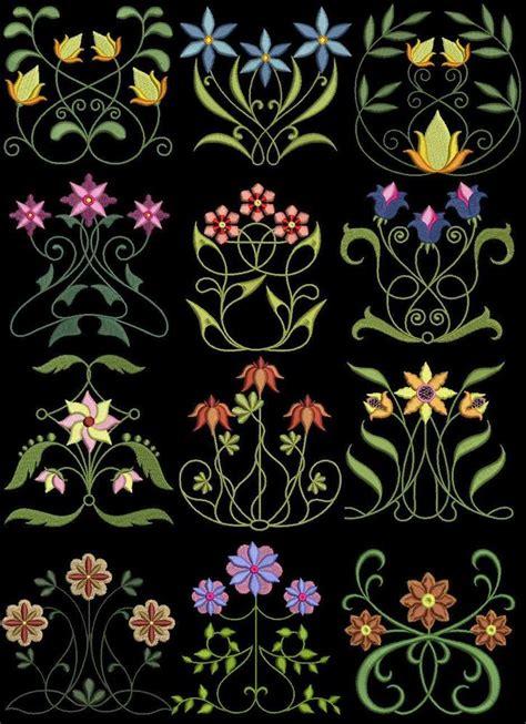 exotic oriental machine embroidery designs 4x4 cd ebay exotic art nouveau 1 floral machine embroidery designs ebay