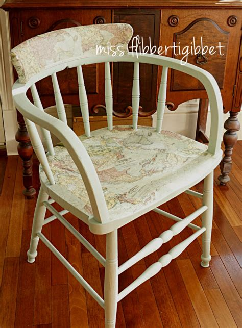 Decoupage A Chair - decoupaged map chair miss flibbertigibbet