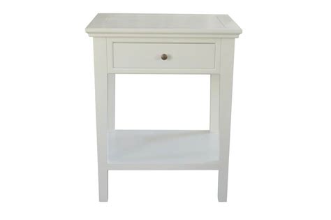 Furniture Traders by Ashiya Side Table White Provincial Furniture Trader