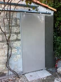 porte metallique coulissante sur rail cadolive m 233 tal concept