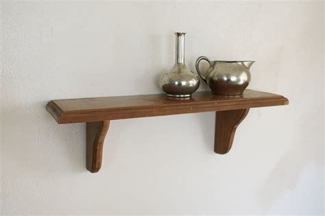 wood wall shelf small display shelving wooden wall hanging