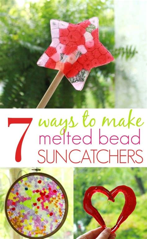how to make suncatchers with plastic 7 ways to make melted bead suncatchers from plastic pony