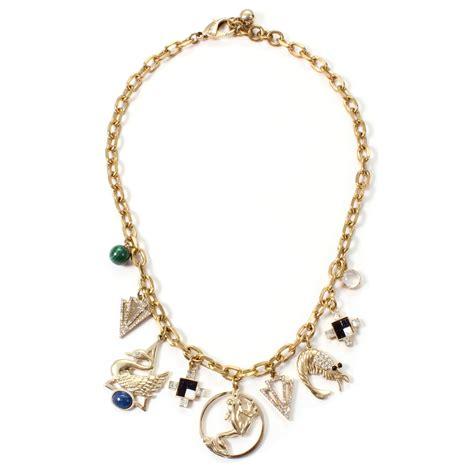 lulu allegory charm necklace in metallic lyst