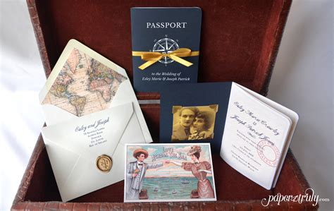 Come With Me Engagement Invites by Come Away With Me Passport Wedding Invitation