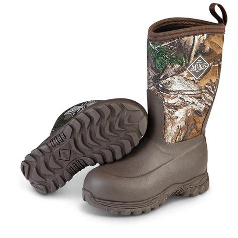 muck rugged ii waterproof winter boots brown