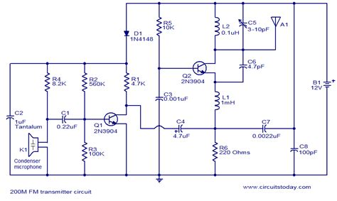 fm transmitter receiver circuit diagram fm transmitter schematics circuit diagrams