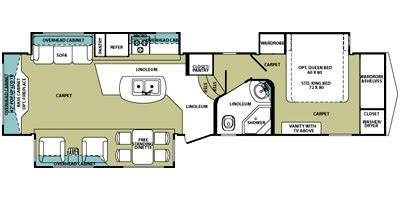 rv floor plans cardinal and montana floor plans 2009 forest river cardinal 3625 rt comparison compare