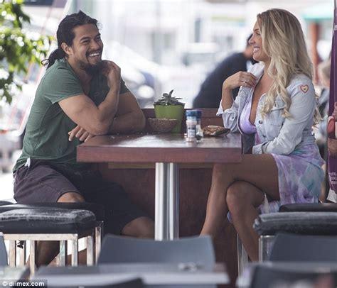 Zilda williams enjoys coffee date with gold coast titans kevin gordon