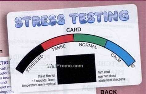 stress test card template printable stress testing card w imprinted branded printing