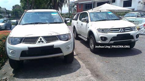 mitsubishi malaysia spyshots new mitsubishi triton facelift in sarawak image