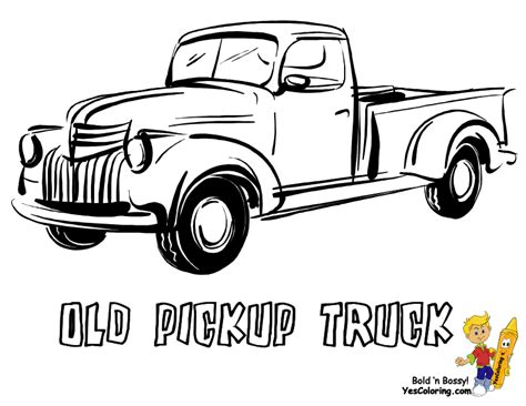 big boss truck coloring pictures foreign pickup trucks