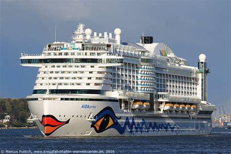 aidaprima passagiere kreuzfahrtschiff aidaprima 2016 kreuzfahrthafen warnem 252 nde
