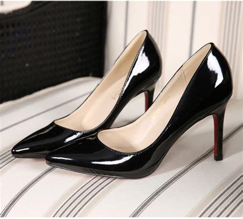 New Kvoll Size 34 42 R16 plus size 34 42 9cm s pumps sliver black white high heels white wedding pointed
