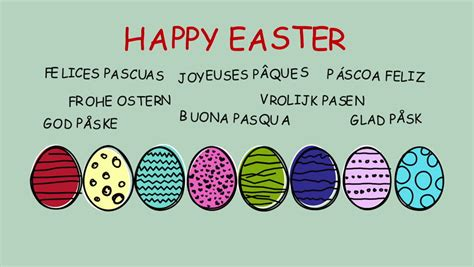 happy easter in italian language happy easter in languages stock footage