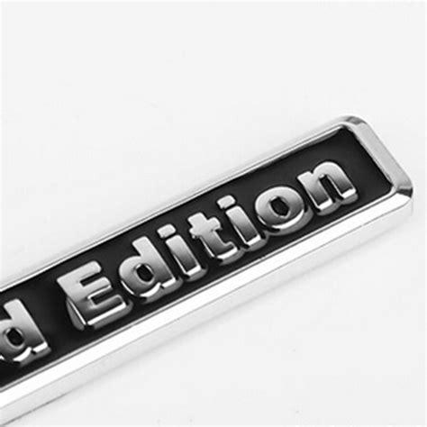 Emblem Limited Edition Kecil 3d Metal Chrome 1pcs 3d chrome black metal sticker car styling quot limited edition quot emblem badge ebay