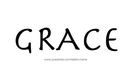 grace tattoo designs grace name designs