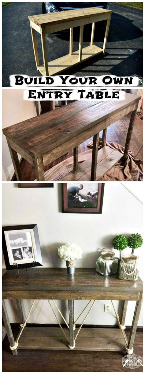 How To Build A Hallway Table