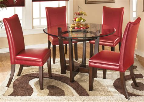 Red Dining Room Table by Roses Flooring And Furniture Charell Round Dining Table W